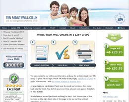 Ten Minute Will website